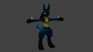 WIP 4.5 Lucario by PhiliChez