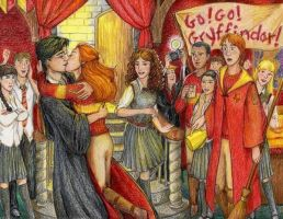 When Harry kiss Ginny by The-Lady-Who-lived