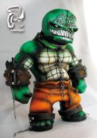Killer Croc Arkahm Asylum by FullerDesigns