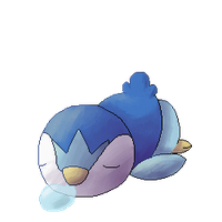 Free animated  Sleepy piplup page/journal doll by leensor