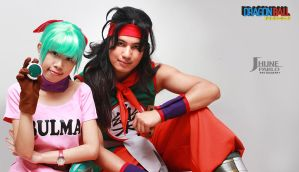 Dragonball bulma and yamcha by jeffbedash325