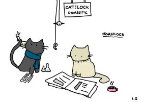 Cat!lock johnlock by unicornchick