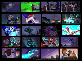 Ben 10: Destroy All Aliens - Color Script 3 by joeymasonart