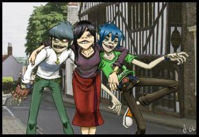 Gorillaz: On Holiday by Admantius