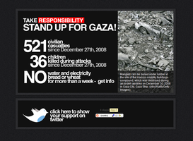 I stood up for GAZA, by ademmm