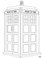 Tardis Line Art by Nolamom3507