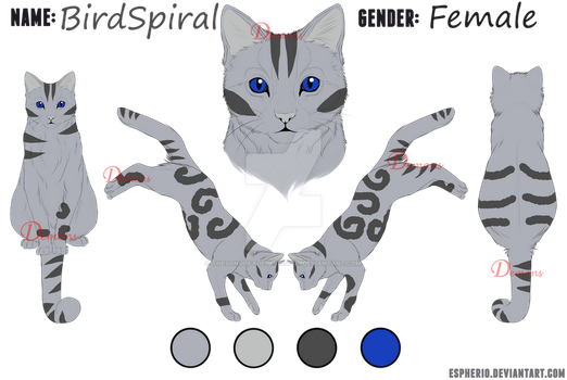 :OC: BirdSpiral Reference by TheSongOfADemonsSoul