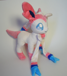 Ninfia / Sylveon Plushie by Yukamina-Plushies