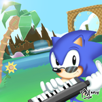 Commission: SONIC REDUX COVER - No text or logo by RGXSuperSonic