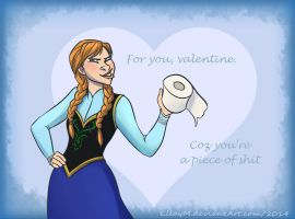 Frozen Heart valentines - Anna by LilayM