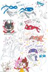 TMNT MissKitty ghosts scribbles by Kittychan2005