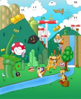 Bowser Jr. and friends fishing by Heartless-Bowser