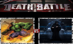 The Incredible Hulk vs. Emperor Palpatine by ScarecrowsMainFan