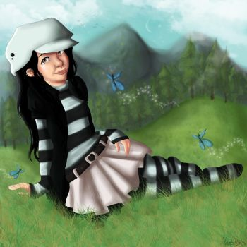 Penelope and the butterflies by Pepperfrukt