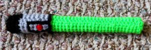 Crocheted Lightsaber by JenniferElluin