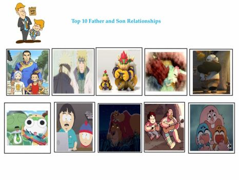 My Top 10 Father And Son Relationships by ajpokeman