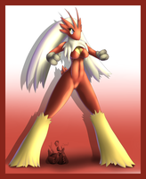 Blaziken Anthro by oldanthropokemon