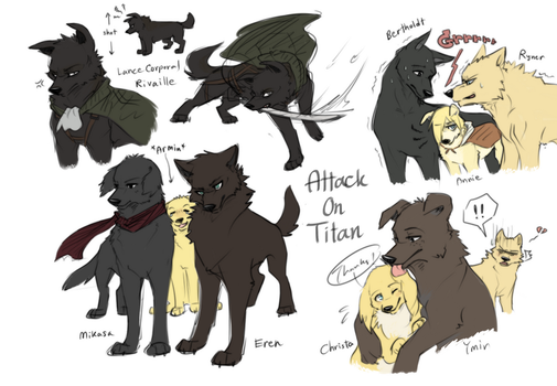Attack on Titan Dogs Dump by Zencelot