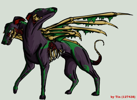 Hellhound Tribal and Bat Wings by TinTans