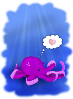 Octi the Octopus by missimoinsane