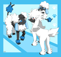 Furfrou, Spudle and Hydrudle by Endless-Rainfall