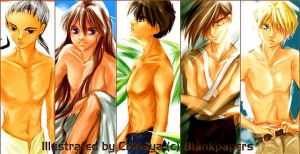 Bare-chested G-boys by chihaya