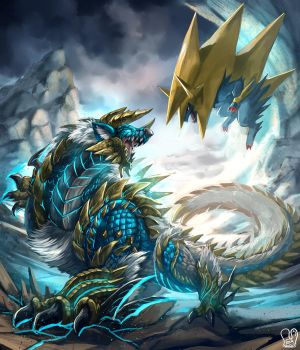 PKMN vs MH : Zinogre vs Mega Menectric by Sa-Dui