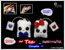 TeaBag Couple Keychain.. by SongAhIn