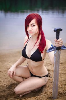 FAIRY TAIL [OVA-4] - Erza Scarlet [Beach Armor] 2 by Akaomy