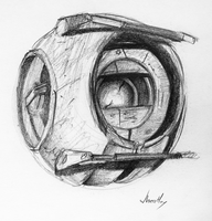 Wheatley sketch thing by Saber-Cow