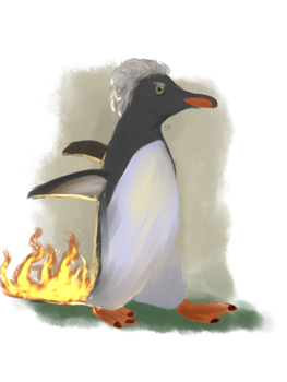 A Penguin Whose Arse is on Fire by LibrarianWho