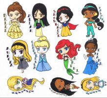 ChibiCollection-Princesses by AkabaraYashiki