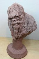 Squatch WIP by Blairsculpture