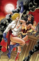 Power Girl Vs Wonder Woman by A-D-L