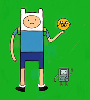 Finn, Jake and Beemo by bobb0123