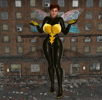 Giantess WASP by Big-ELSA