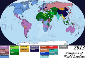 Religions of World Leaders, 2013 by Iori-Komei