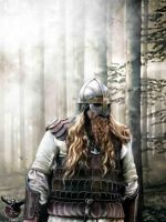 Viking from Northern woods by thecasperart