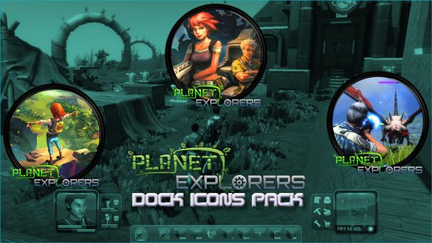 Planet Explorers Dock Icons Pack by courage-and-feith