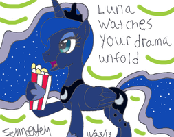 Luna Watches Your Drama by lcponymerch