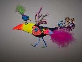 whimsical bird sculpture by JP-3D