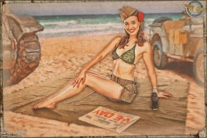 Pinups - V-E Day at the Beach by warbirdphotographer