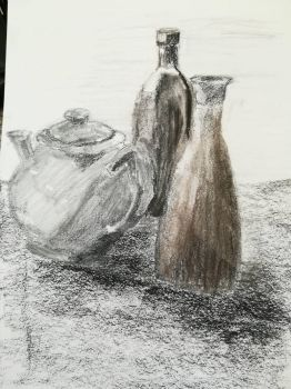 Still life in charcoal media by Andrix9743