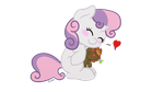 My little Pony - Sweetie Belle + Button Puppet by MimicProductions