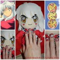 Inuyasha Quick Nail Design by Gutt3rflow3rGirl
