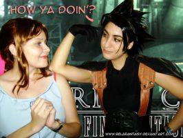 Zack and Aerith cosplayers by belafantasy
