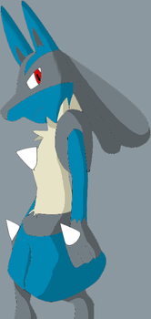 Lonely Lucario by Gluttony25