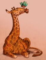 Starling and Giraffe by larkinheather