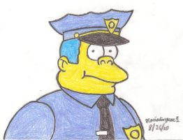 Chief Wiggum Drawing by MarioSimpson1