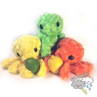 Citrus Octopus Plushies by The-Cute-Storm